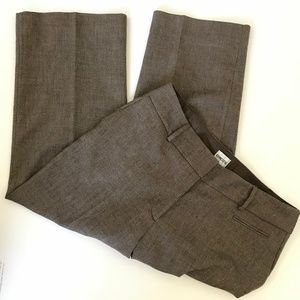 CHICO'S Brown Herringbone Wool Blend Career Pants